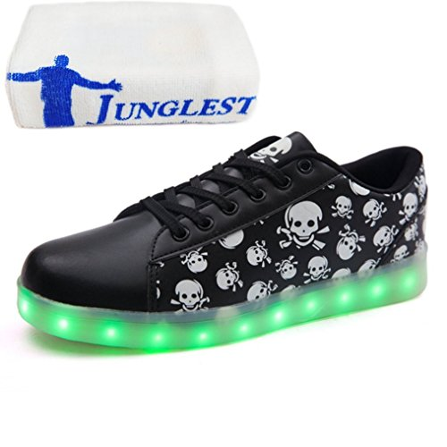 junglest® Handtuch present Farbe beleuchtung Usb lade 7 kleines Schwarz Turnschuh Blink Led schuh Unisex 5UqCwqEHS