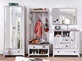 möbelando Garderobe Flurmöbel Garderobenprogramm Komplett Set Dielenmöbel Swansea I