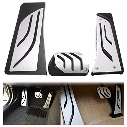 YONGYAO Auto-Gas-Brems Fußstütze Fußpedale Platten Polster Für BMW 5 6 7 Serie Bei Lhd F10 F11 F12