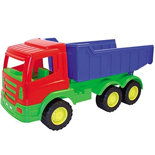 #0618 Großer Spielzeug LKW Kipper 70 cm aus stabilem Kunststoff mit Kippmulde • XXL Kinder Sand Kipp Laster Sandfahrzeug Sandspielzeug
