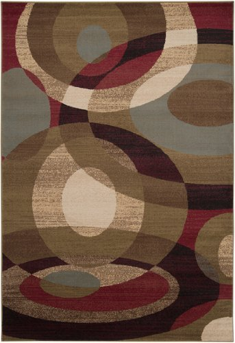 Surya Riley RLY-5007 Contemporary Machine Made 100% Polypropylene Light Pear 5'3 x 7'6 Geometric Area Rug by Surya