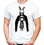 Donnie Darko Männer und Herren T-Shirt | Mask Kostüm Geschenk | M3 (L, Weiß)