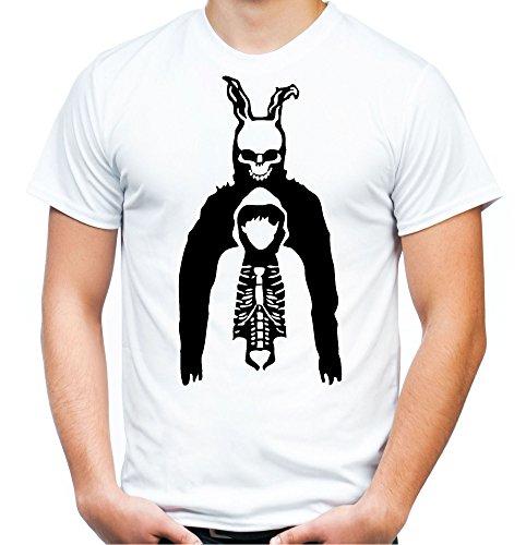Donnie Darko Männer und Herren T-Shirt | Mask Kostüm Geschenk | M3 (S, (Darko S Kostüm)