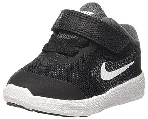 Nike Revolution 3, Chaussures Marche Bébé Garçon, Gris (Dark Grey/White/Black/Wolf