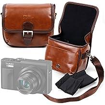 DURAGADGET Bolsa marrón tamaño Mediano con Compartimentos para Panasonic Lumix DC-TZ90, DMC-