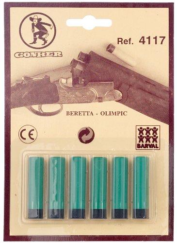 Gonher 4117 - Blister de 6 cartuchos para escopeta