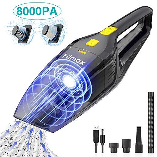 HIMOX Aspirador de Mano Sin Cable Potente de 8000Pa Aspiradora Inalámbrico Recargable...