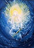 silwi-art*****Engelbild, Erzengel Michael beschützt Dich Leinwanddruck/Leinwandbild/Wanddeko auf Holzrahmen aufhängebereit, limitiert und handsigniert