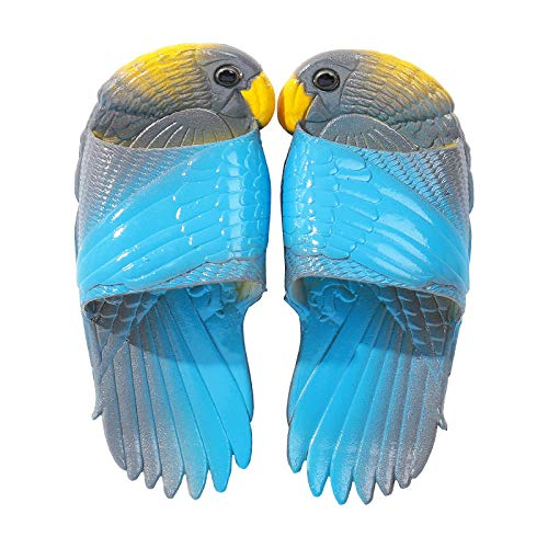 Northerncold Frauen/Männer Slip On Slippers, Casual Strand kreative Schuhe, Papagei lustige Hausschuhe, Eltern-Kind-Haus Indoor Sandalen @ Gray_40, Beach Slide Pool Schuhe