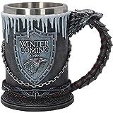 Nemesis Now House Stark Boccale Game of Thrones, 20 cm, Nero
