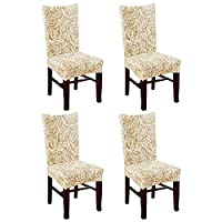 KING DO WAY Set of 4 Chair Cover Fitted Chair Slipcovers Removable Washable for Hotel Dining Room Wedding Banquet Stretch Spandex Party Decor K