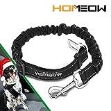 HOMEOW Premium Hunde Sicherheitsgurt Katzen Auto Sicherheitsgeschirre Hunde einstellbar Hundegurt mit elastische Ruckdämpfung für alle Hunderassen