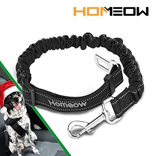HOMEOW Hunde Sicherheitsgurt Katzen Hundegurt Fürs Auto Anschnallgurt Hund Sicherheitsgeschirr Hund Auto Hundegurt Einstellbar Hundegurt für alle Hunderassen Elastische Sicherheitsgurt für Hunde -