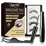 Eyeliner Magnétique,Cils Eyeliner Magnétiques,Magnetic Eyeliner Kit de Cils Magnétiques,Noir Imperméable à L Eau Magnétique Liquide Eyeliner pour Une Utilisation avec des Faux Cils Magnétiques