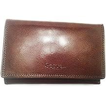 ea197a70d5 Portafoglio portamonete da donna in vera pelle, nuovo con etichetta e  confezione. (marrone