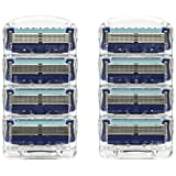 Gillette Fusion ProGlide Razor Herenmessen, 8 mesjes, frustratievrije verpakking