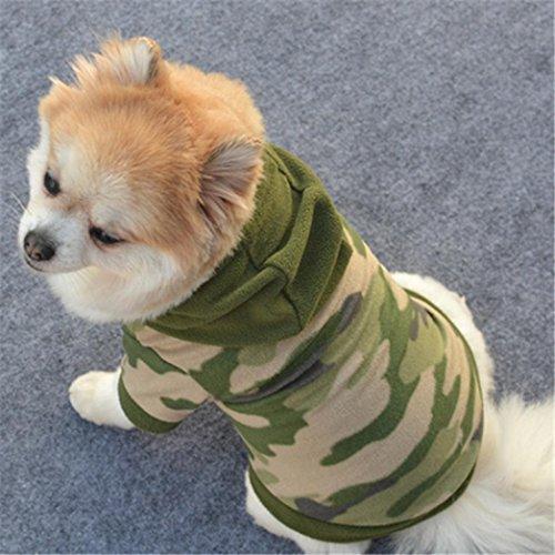 Haustierkleidung,Hund Haustierbekleidung Hoodie Warmes Pullover Welpen-Mantel-Kleid von Sannysis (Tarnung, L) (Reversible Damen-pullover)