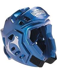 Macho guerrero casco protector para boxeo, color azul, azul, XL