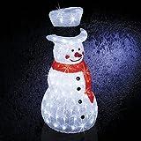 Deco Weihnachten–Schneemann–gefrostet–160LED–72cm