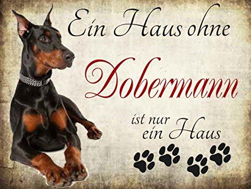 'Ein Haus ohne Dobermann ist nur ein Haus' Hundeschilder, Hundedeko, Hund Türschilder,...