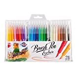 Best Brush Tip Markers - ICO Brushpen - Wallet of 24 Assorted Colours Review