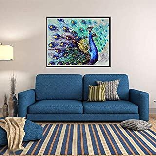 Diamond Painting Peacock Flaunting Its Tail 5D Diamond DIY Painting Craft Kit Amazingdeal365 Home Decor
