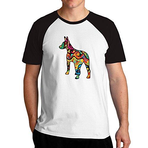 Eddany Psychedelic American Hairless Terrier Raglan T-Shirt -