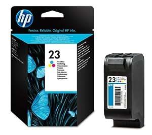 HP 23 Cartouche d'encre d'origine jaune, cyan, magenta 225 pages