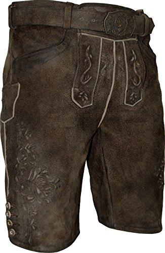 Spieth & Wensky Herren Premium Lederhose Tramin mit Gürtel, Größe:56;Farbe:ton