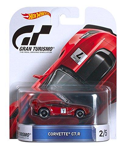 Mattel Hot Wheels DJF44 Metal vehículo de Juguete - Vehículos de Juguete, Coche, Metal, Gran Turismo, Corvette C7-R, 1:64