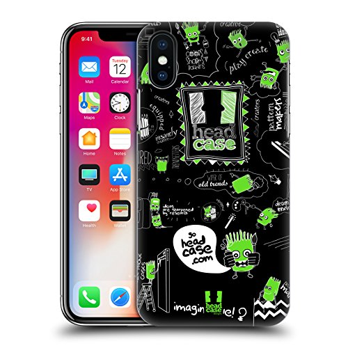 Head Case Designs Nebulosa Anniversario Mix Cover Retro Rigida per Apple iPhone X Go Doodle