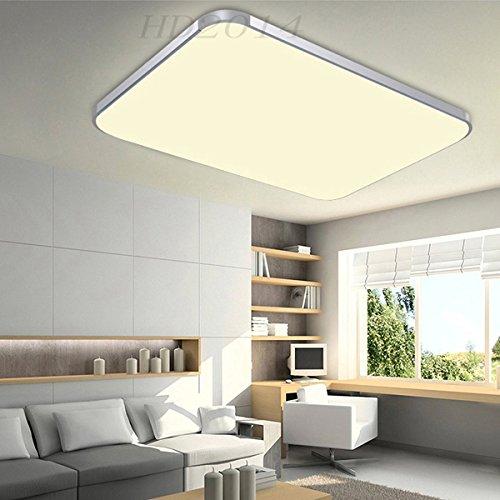 Hengda® 48W LED Deckenleuchte Panel Alu-matt Schlafzimmer Wohnzimmer ...