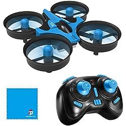 JJRC H36 Mini Drone Quadcopter 2.4G 4CH 6 Assi Modalità Headless Telecomando Nano Quadcopter RTF Mode 2, Blu