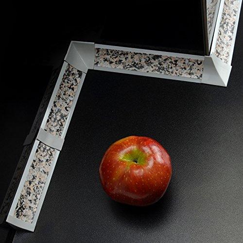[DQ-PP] 3m Winkelleisten Granit für Küchen 23mm x 23mm Arbeitsplatten Grundprofil Abschlussleiste
