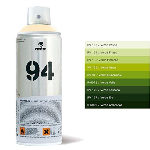 Bombe de peinture MTN 94 (r-v34 vert guacamole)