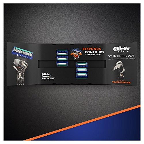 Gillette Fusion ProGlide Men's Razor Blades – 8 Blades – Frustration free packaging