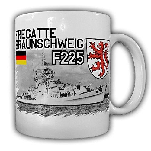 Fregatte Braunschweig F225 Bundesmarine Bundeswehr Schiff Köln-Klasse Besatzung-Tasse Kaffeebecher#13347