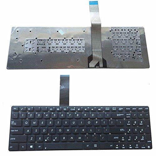 New US Layout Schwarz Tastatur ohne Rahmen für Asus K55A K55V K55VD K55VM K55VJ A55A A55V A55VD A55VJ A55VM A55VJ K75V K75VD K75VD K75V K75VJ K75VM A75V A75VJ A75D A75DE -