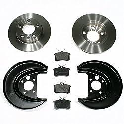 Bremsscheiben/Bremsen + Bremsbeläge + Spritzbleche für hinten/für die Hinterachse