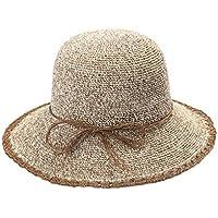 LBY Sombrero, Mujer De Primavera Y Verano Papel Fino, Sombrero De Pescador, Sombrero De Cuenca, Sombrero De Paja Tejida A Mano, Sol Sombreros de Sol
