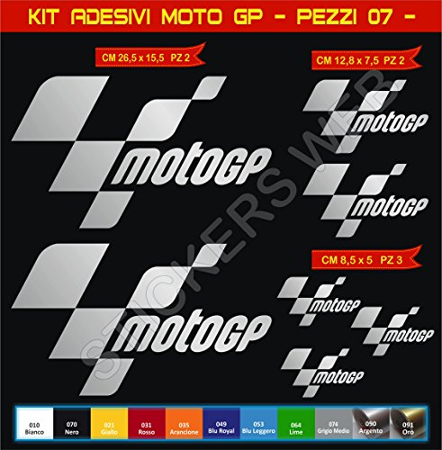 Pegatinas moto adhesivos MOTOGP. Cod.0611 (Argento cod. 090)