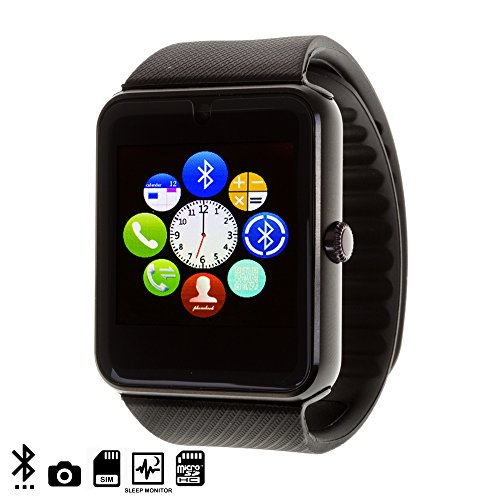 DAM Gt08 Bluetooth Watch Black