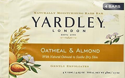 Yardley of London Naturally Moisturizing Bar Soap Oatmeal & Almond