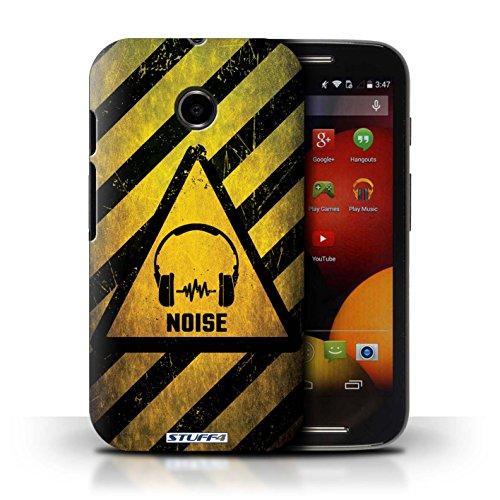 Kobalt® Imprimé Etui / Coque pour Motorola Moto E (2014) / électricité conception / Série Signes de Danger Bruit/Musique