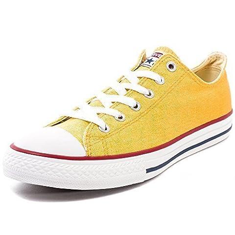 Converse Chuck Taylor All Star Ox Baskets pour Enfant - jaune - Cactus Blossom/Solar Orange, 38 EU