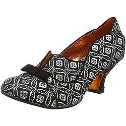 Poetic Licence 4136-23F, Zapatos de Tacón Mujer, Negro (Negro/Dorado), 41 EU (talla del fabricante: 7.5 UK)