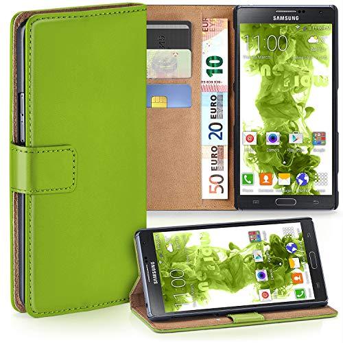 moex Samsung Galaxy Note 3 Neo | Hülle Grün mit Karten-Fach 360° Book Klapp-Hülle Handytasche Kunst-Leder Handyhülle für Samsung Galaxy Note 3 Neo Case Flip Cover Schutzhülle Tasche