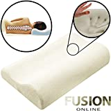 CONTOUR MEMORY FOAM LUXURY PILLOW FIRM HEAD BACK ORTHOPAEDIC NECK SUPPORT UK Fusion (TM)