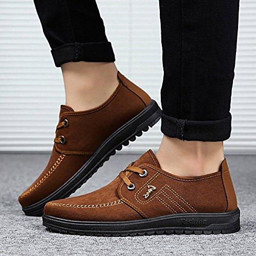 Zapatos Planos con Cordones Hombre ZARLLE Zapatos Casuales De ... dd918e737dc2a