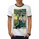 wellcoda Journal rétro Ancien Homme T-Shirt à Sonnerie